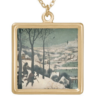 Hunters in the Snow - January, 1565 Gold Plated Necklace