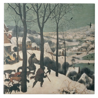 Hunters in the Snow - January, 1565 Large Square Tile