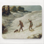 Hunters in the Snow or The Poachers Mouse Pad