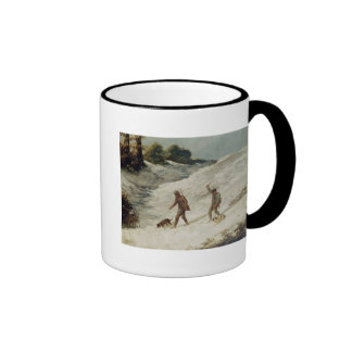 Hunters in the Snow or The Poachers Ringer Coffee Mug