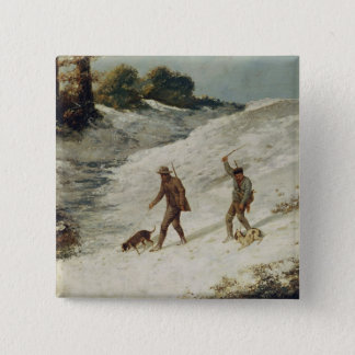 Hunters in the Snow or The Poachers Pinback Button