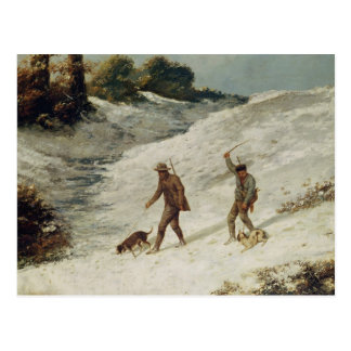 Hunters in the Snow or The Poachers Postcard