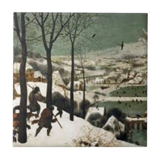 Hunters In The Winter Painting Ceramic Tile