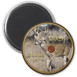 Hunters Magnetic Concho 2 Inch Round Magnet