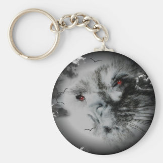 Hunter's Moon - Eyes of the Cat Keychain