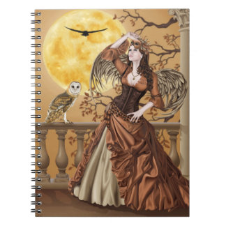 Hunter's Moon - Moonlight Masquerade Owl Fairy Journal