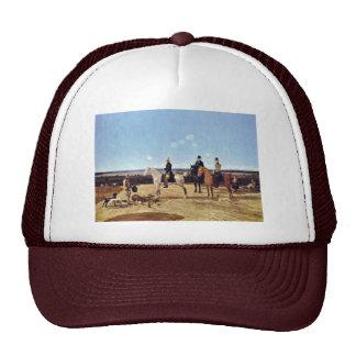 Hunters On Horseback In Upper Bavarian Landscape Hats
