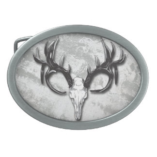 Hunters Outdoors man Deer Skull Belt Buckle