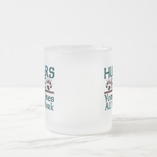 Hunters Rule! Frosted Glass Coffee Mug