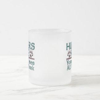 Hunters Rule! 10 Oz Frosted Glass Coffee Mug
