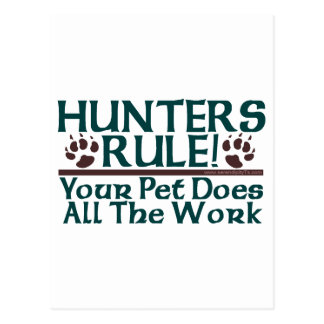 Hunters Rule! Postcard