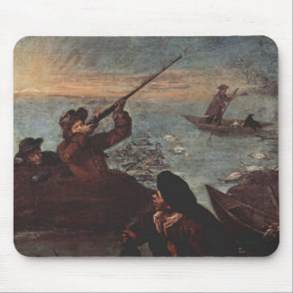 Hunters Shooting at Ducks by Pietro Longhi Mouse Pads