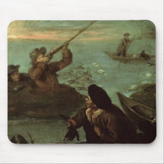 Hunters Shooting at Ducks (oil on canvas) Mouse Pad