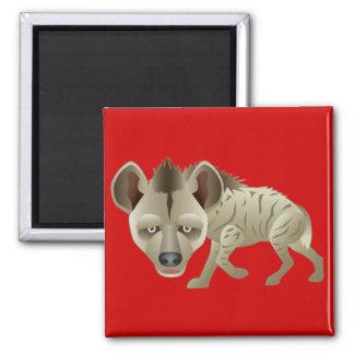 Huntin' Hyena 2 Inch Square Magnet