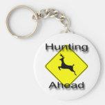 Hunting Ahead  black Key Chain