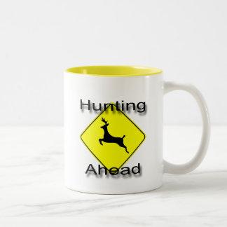 Hunting Ahead  black Two-Tone Coffee Mug