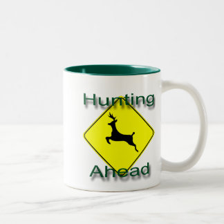 Hunting Ahead  green Two-Tone Coffee Mug
