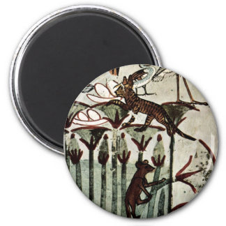 Hunting And Fishing Details: Cat And Mongoose By M Fridge Magnet