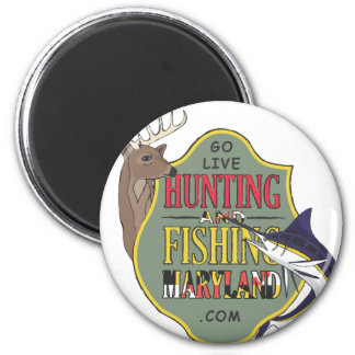 Hunting and Fishing Maryland Refrigerator Magnet