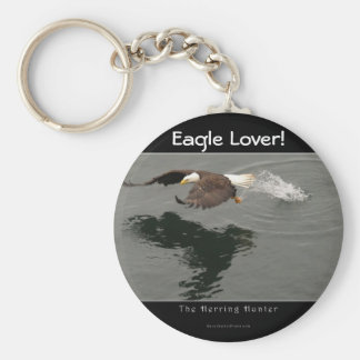 Hunting Bald Eagle Wildlife Keychain
