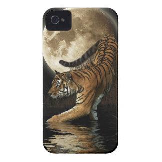Hunting Bengal Tiger & Moon Big Cat Wildlife iPhone 4 Case-Mate Cases