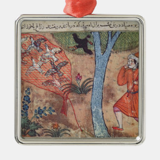 Hunting Birds, from 'The Book of Kalila and Christmas Ornament