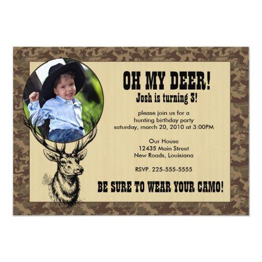 "Hunting Birthday 5"" X 7"" Invitation Card"