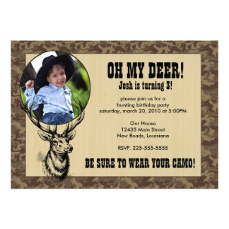 Hunting Birthday Custom Invitations
