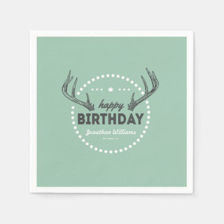 Hunting Birthday Postage for Lil' Hunters Napkin