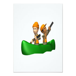 Hunting Boat 5x7 Paper Invitation Card