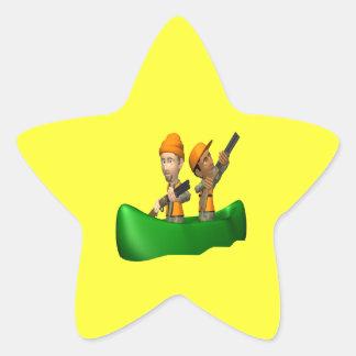 Hunting Boat Star Sticker