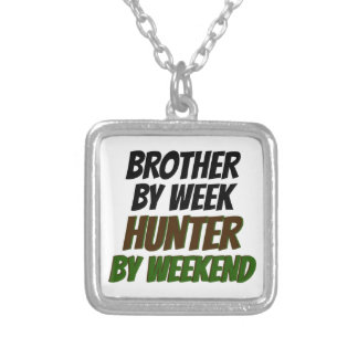 Hunting Brother Silver Plated Necklace