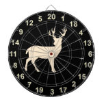 Hunting Buck Standing  Dart Board 2<br><div class='desc'>This board features wildlife Deer - a buck with a black  background.</div>