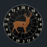 """Hunting Buck Standing  Dart Board 4<br><div class=""""desc"""">This board features wildlife Deer - a buck with a eggshell background.</div>"""