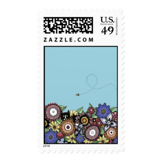 Hunting Buddies color tuxedo cats postage stamps