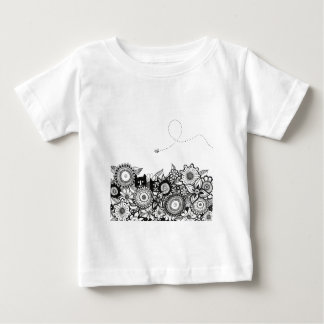 Hunting Buddies pen and ink art baby t-shirt
