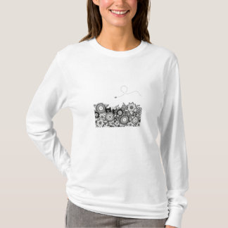 Hunting Buddies pen and ink art t-shirt