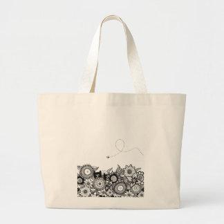 Hunting Buddies pen and ink art tote bag