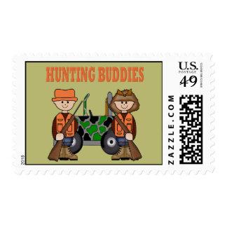 HUNTING BUDDIES POSTAGE STAMPS