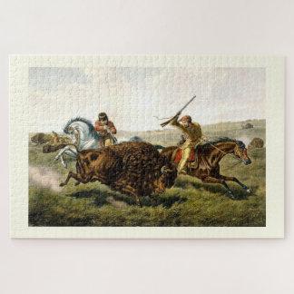 Hunting buffalo jigsaw puzzle