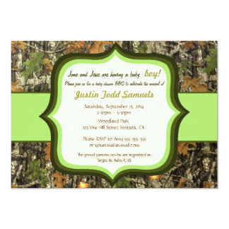 camo baby shower invitations  announcements  zazzle, Baby shower invitations
