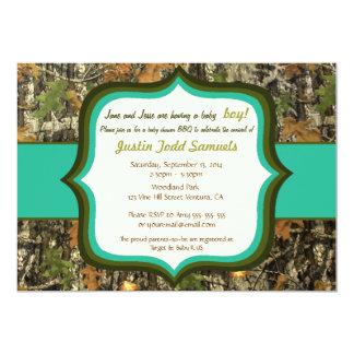 Hunting Camo Baby Boy Shower Invitation