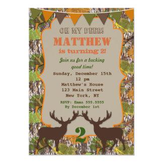 Hunting Camo Birthday Party Invitations