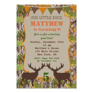 Hunting birthday invitations announcements zazzle hunting camo birthday party invitations filmwisefo