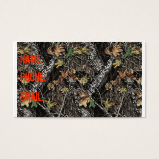 Hunting Camo Business Card