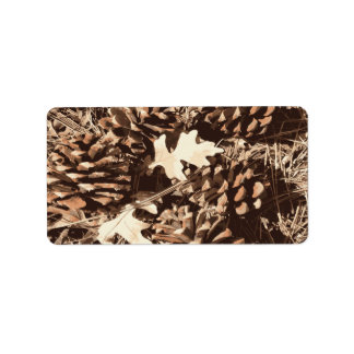 Hunting Camo Camouflage Gifts for Hunters Address Label