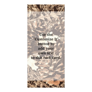 Hunting Camo Camouflage Gifts for Hunters Rack Card