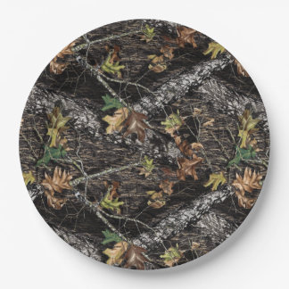 Hunting Camo Camouflage Party Plates for Showers