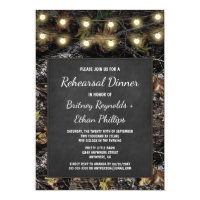 Hunting Camo   Chalk Rehearsal Dinner Invitations