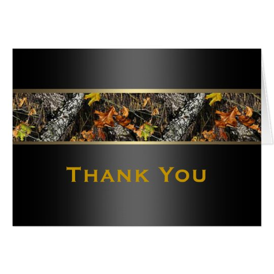 hunting camo formal thank you cards zazzle com